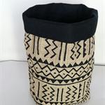 Aztec lined hessian basket