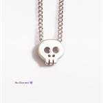 Tiny skull charm necklace