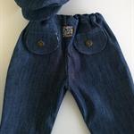 Denim Set : Pants / Cap / Tee-Shirt Size 6 - 9 months