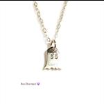 Tiny Ghost charm necklace, minimalist necklace