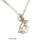 Tiny penguin necklace, sterling silver, minimalist necklace