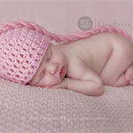 Pale Pink Sleeper Hat / Newborn Photography Prop
