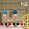 Geo Wooden Necklace with gold plated brass (Milli)