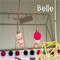 Geo Wooden Necklace with gold plated brass (Belle)