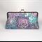 Purple medallions large clutch purse