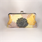Yellow flowers large clutch purse