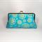 Metallic blues large clutch purse
