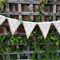 Wedding Bunting - lace and Hessian - romantic