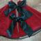 FREE POST - Christmas Tree Skirt 'Ruby Swirl'