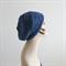 Denim blue Handknit Slouchy ladies hat