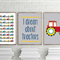 Colourful tractors for kids print package, tractor prints - little boys bedroom