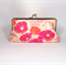 Poppy in fuchsia large clutch purse