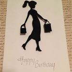 Happy Birthday Women who loves to shop  Card