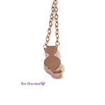 Tiny cat necklace, rose gold cat necklace