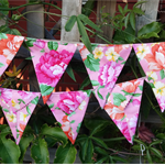 Floral Bunting, flags or banner for child's bedroom, garden, birthday