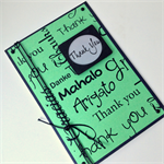 Thank You Card - Teacher, Multi language, Gender Neutral