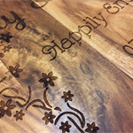 Laser Engraved Wood Chopping Board Wedding Gift Personalised