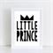 Little Prince Nursery/ Bedroom Wall Art Print - A4 Unframed