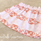 Size 5 Paperbag Waist Skirt in Pink and Orange Patchwork Fabric
