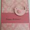 Birthday Card - Baby Pink Birdy