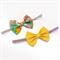 Bow Headband Set - Mustard Spots - Green & Mustard Floral