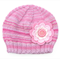 Older Girls / Teen Pink Wool Beanie with Big Flower.  Age: 7 8 9 10 11 12 13