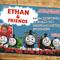 Thomas the Tank Engine Invitation Birthday Invite Personalized Custom Invitation