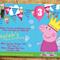 Peppa Pig Invitation Birthday Invite Personalized Custom Invitation