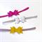 Mini Bow Headband Set - Raspberry - Mustard - Silver - Felt
