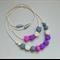 Silicone Teething Necklace - Mama+Me Set - Geo Purple, Pink, Grey, Cream