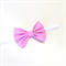 Gingham Bow Headband - Pink - White - Fabric Bow