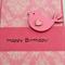 Birthday Card - Pink Birdy