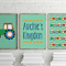 Nursery art print: tractors for kids personalized prints