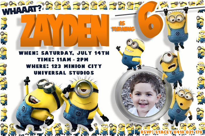 Minion Invites for good invitations ideas