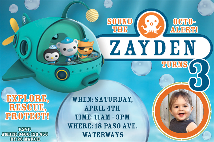Octonauts Invitation Octonauts Birthday Invite Personalized Custom