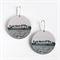 Disc Earrings - Landscape with trees