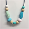 Silicone & Wooden Bead Teething Necklace - Mint & Teal