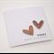 2 hearts Happy Anniversary Card
