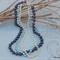 Swarovski white & blue pearls, Sterling Silver, necklace