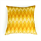Zig Zag Geometric Print Cushion Cover in Yellow Linen