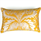 Botanical Cotton Print Cushion Cover in Yellow and Silver Grey