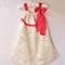 Girls Dress Girls Clothing Pillow case dress w Chiffon Ribbon Sz 3 4 / 5 6 / 7