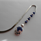THE VAMPIRE DIARIES INSPIRED LAPIS LAZULI STONE AND BEADS SILVER PLATED BOOKMARK