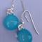 Fused Glass Danglies Earrings ~ Aqua ~ Sterling Silver