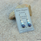 Swarovski White & Blue pearls, Sterling Silver, dangle earring