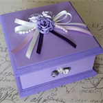 Lovely Lilac Keepsake Trinket Treasure Jewellery Memory Wooden Box