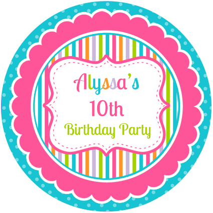 Personalised Party Stickers