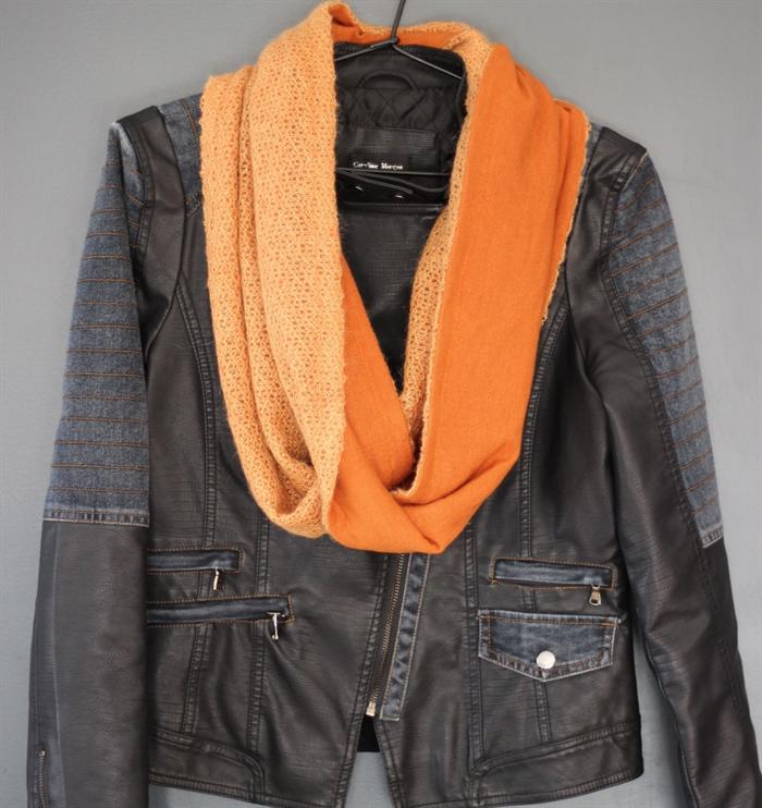 Lightweight wool blend knit Infinity Scarf EttiCute ...