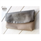 Bronze Snake Leather foldover clutch