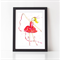 Joy of Dancing A4 Girl's Ballet Bedroom Print